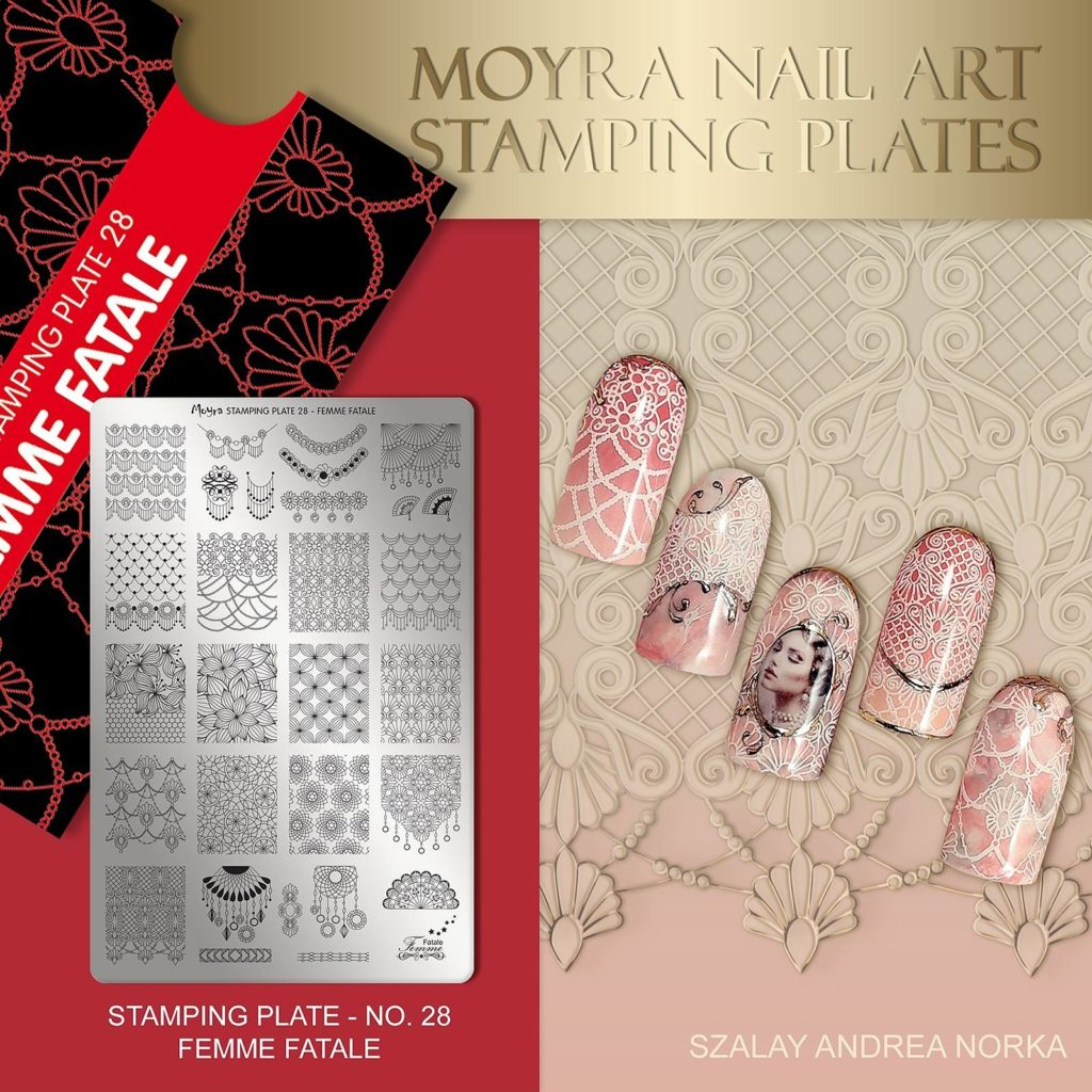 No28femme fatale and water nail stickerNo4