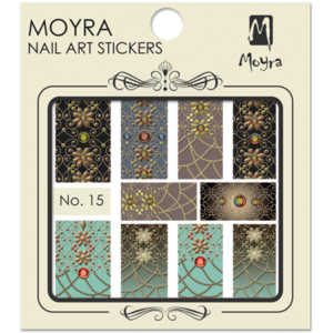Moyraのネイル アート ウォーター ステッカー No. 15