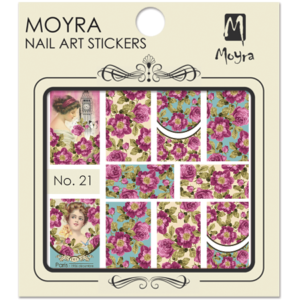 Moyraのネイル アート ウォーター ステッカー No. 21