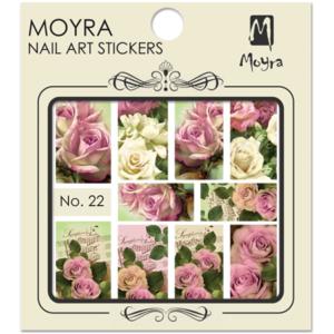 Moyraのネイル アート ウォーター ステッカー No. 22