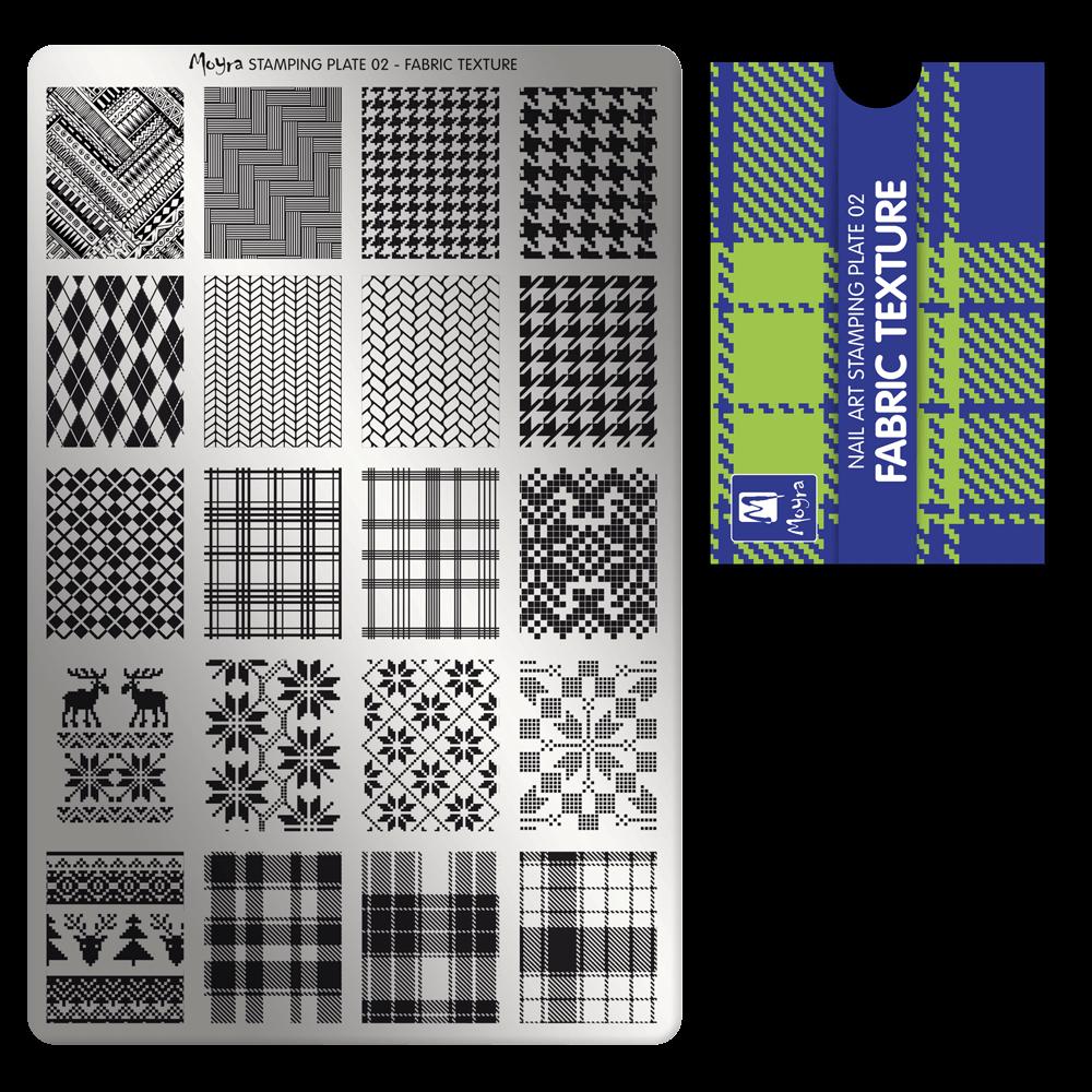 Moyra スタンピングプレート 02 Fabric texture