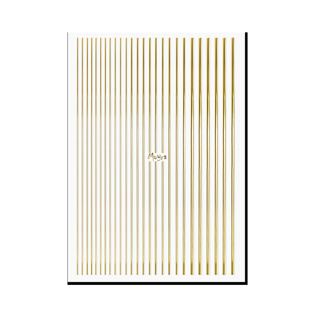 Moyraネイルステッカーストライプ Nail art strips No. 01 Gold