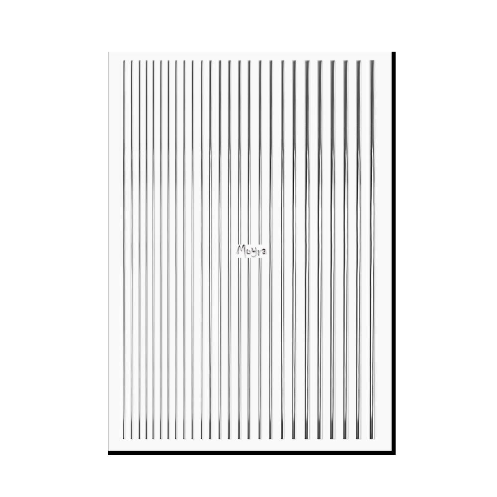 Moyraネイルステッカーストライプ Nail art strips No. 02 Silver