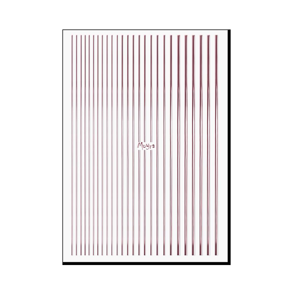 Moyraネイルステッカーストライプ Nail art strips No. 03 Rose gold