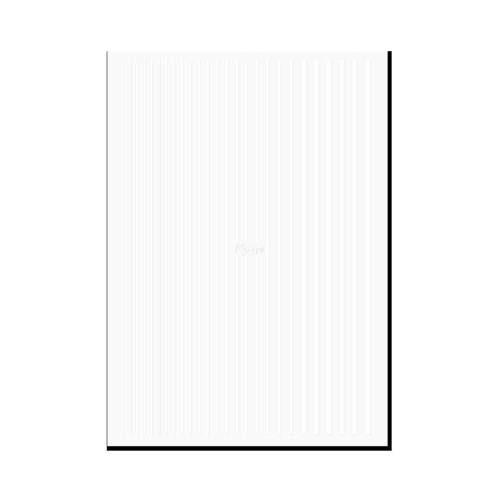 Moyraネイルステッカーストライプ Nail art strips No. 04 White