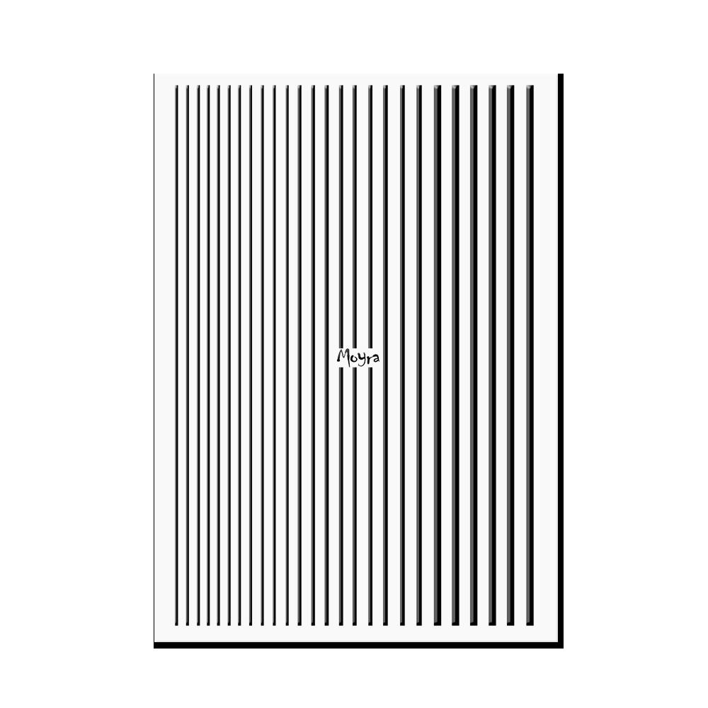 Moyraネイルステッカーストライプ Nail art strips No. 05 Black