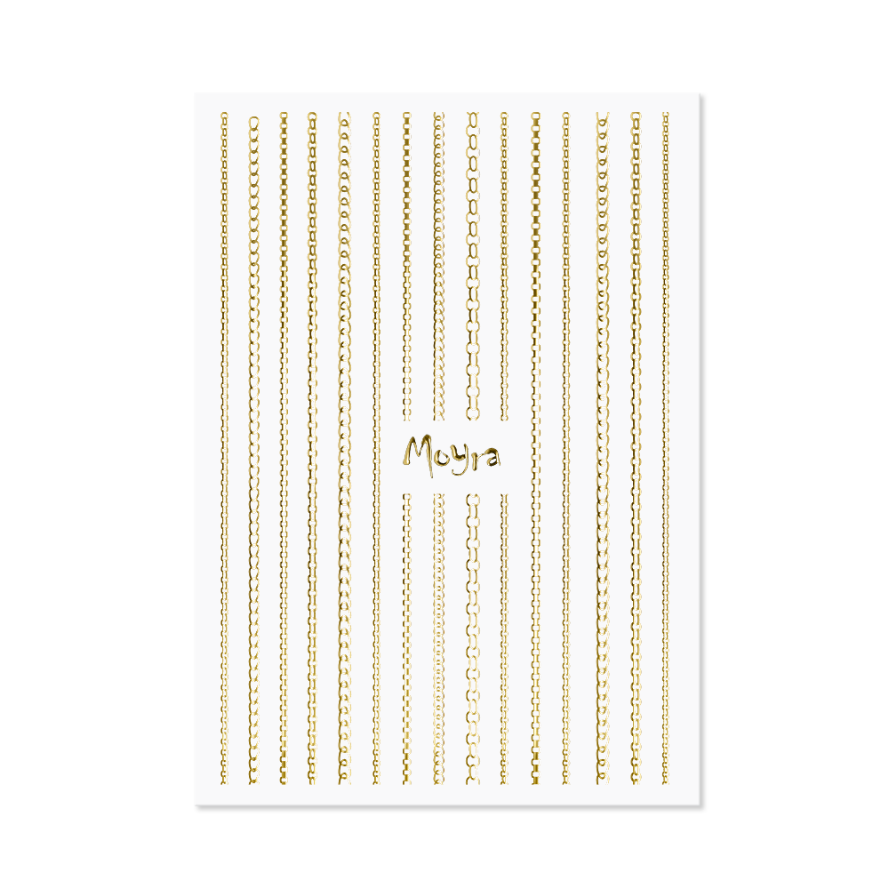 Moyraネイルステッカーストライプチェーン Nail art strips - Chain No. 01 Gold