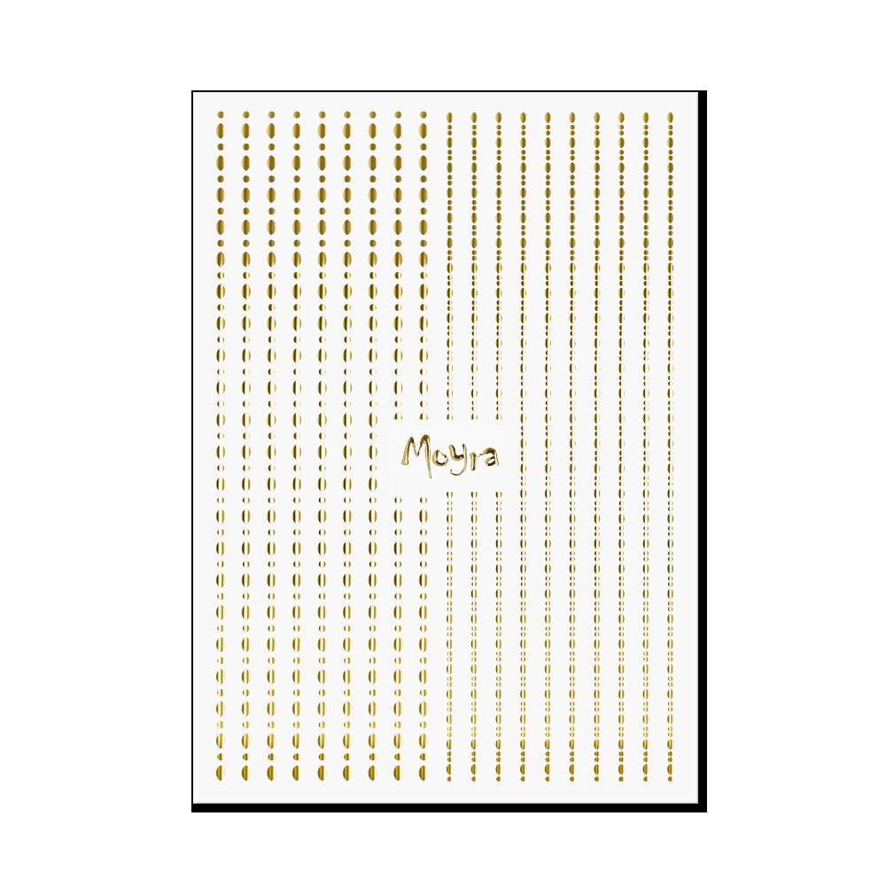 Moyraネイルステッカーストライプドット Nail art strips - Dots No. 01 Gold