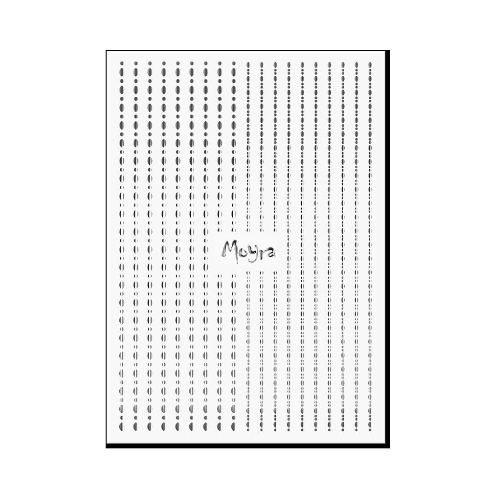 Moyraネイルステッカーストライプドット Nail art strips - Dots No. 02 Silver