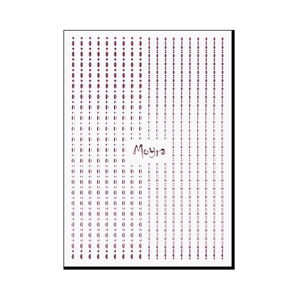 Moyraネイルステッカーストライプドット Nail art strips - Dots No. 03 Rose gold