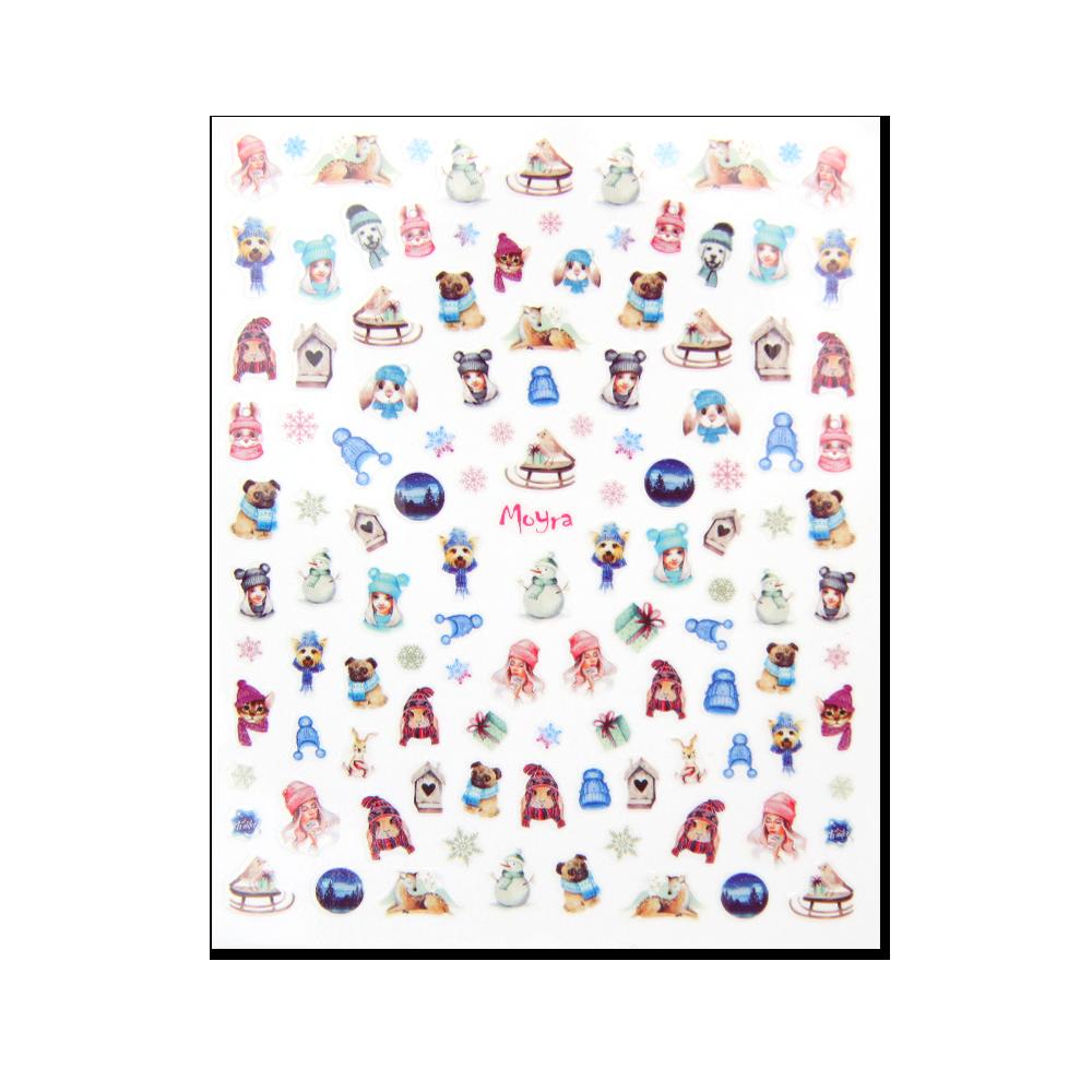 Moyra 粘着ネイルステッカー Nail stickers No. 14