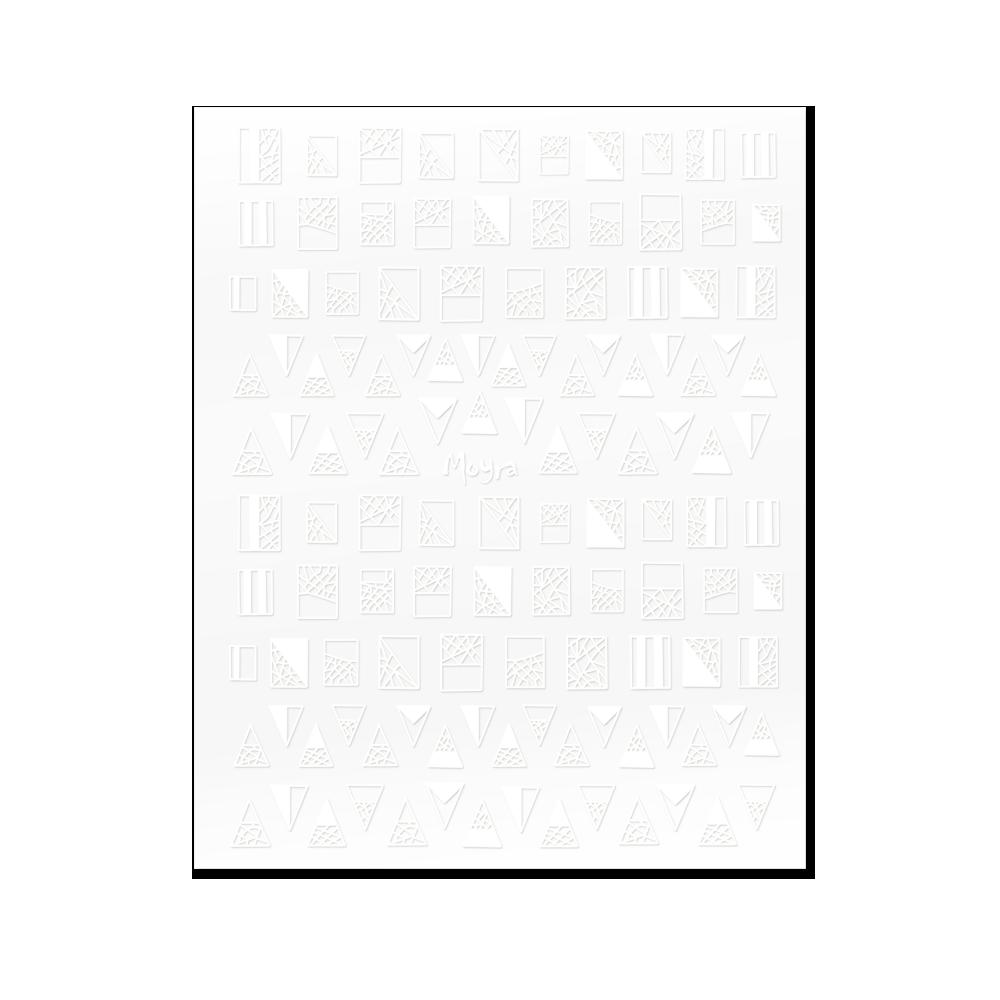 Moyra 粘着ネイルステッカー Nail stickers No. 01 White