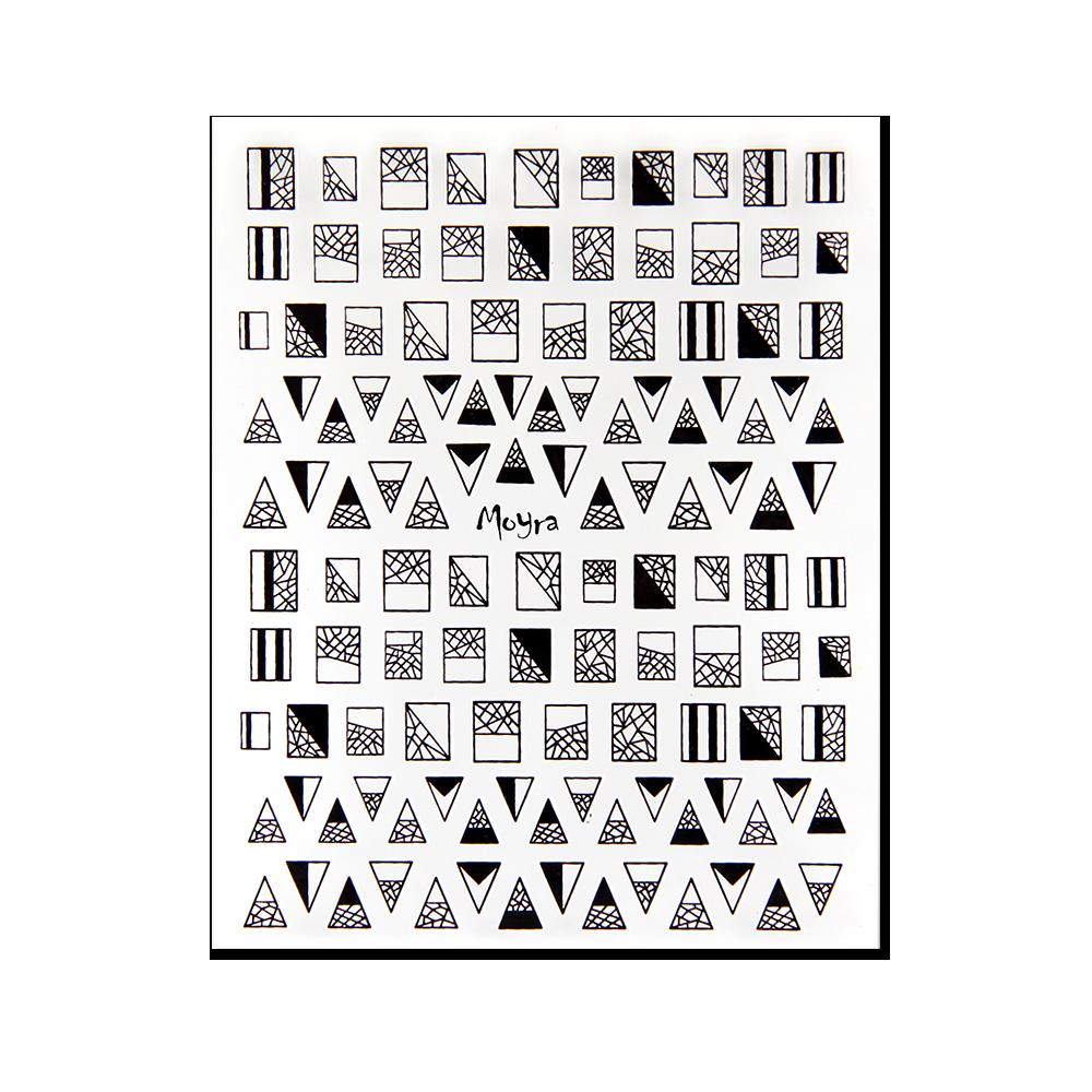 Moyra 粘着ネイルステッカー Nail stickers No. 02 Black