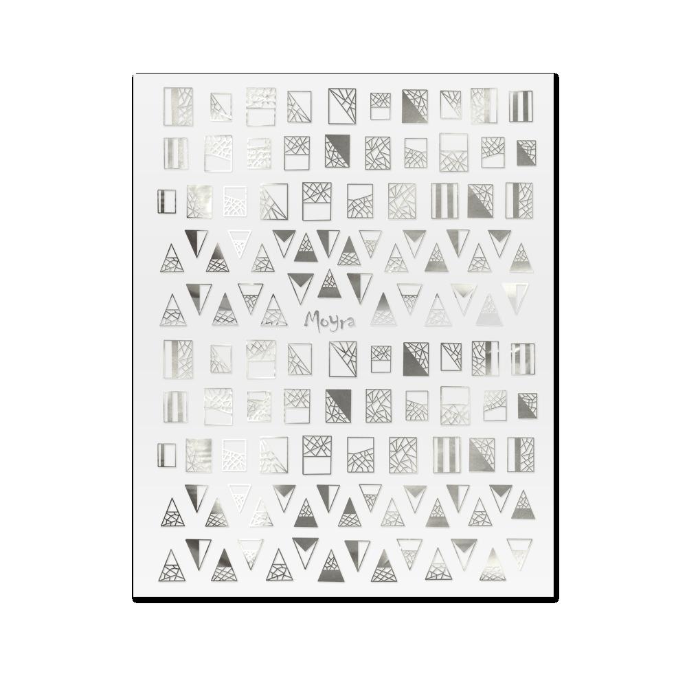 Moyra 粘着ネイルステッカー Nail stickers No. 03 Silver