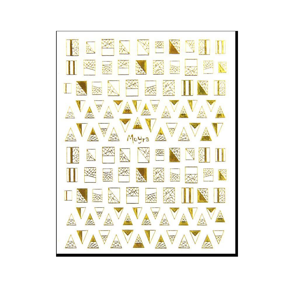 Moyra 粘着ネイルステッカー Nail stickers No. 04 Gold