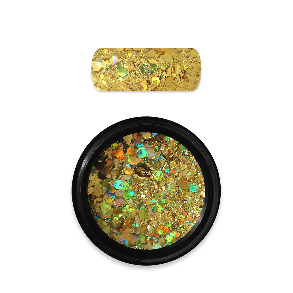 ホログラフィックグリッターミックス Holo Glitter Mix No. 07 Dark Gold