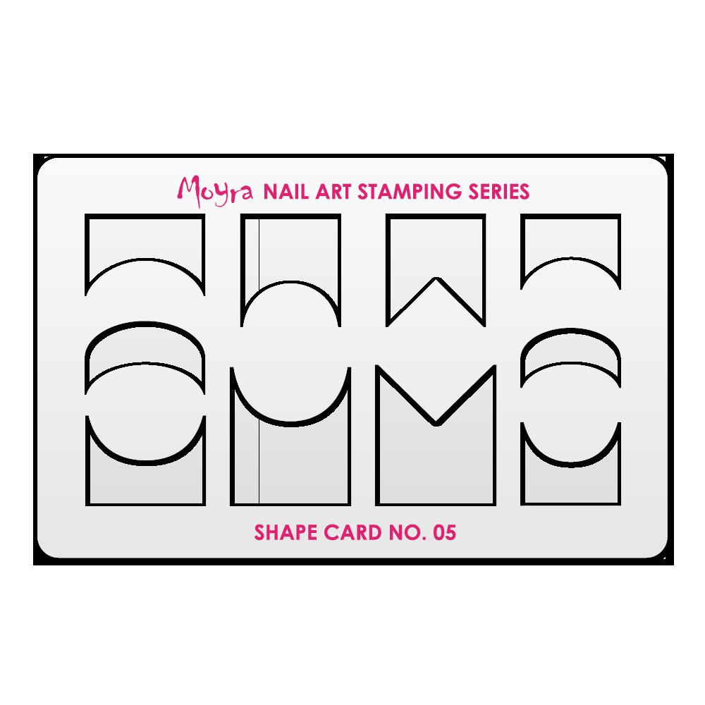 Moyra ネイルアートスタンピングシェイプカード Shape Card No. 05