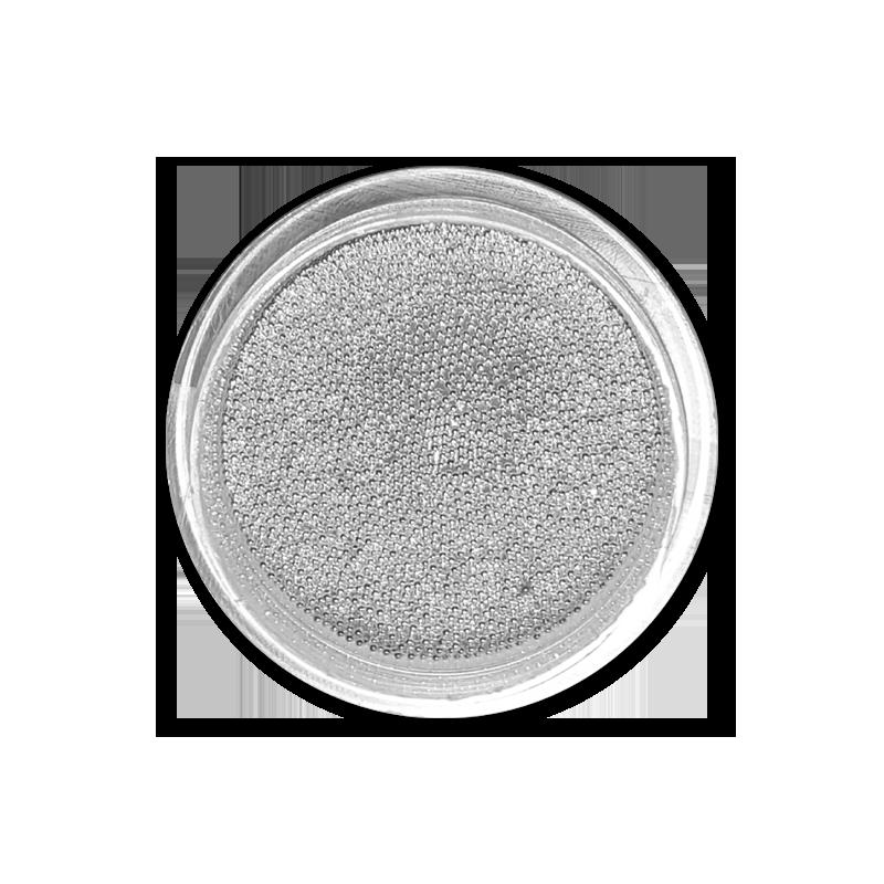 キャビアビーズ Caviar Beads 0,4 mm - No. 01 Silver