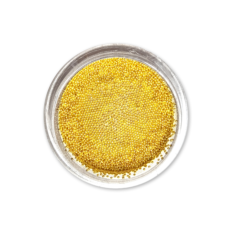 キャビアビーズ Caviar Beads 0,4 mm - No. 02 Gold