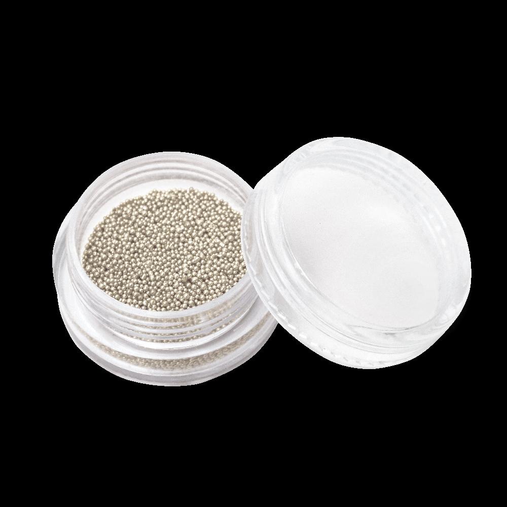キャビアビーズ Caviar Beads 0,8 mm - No. 01 Silver