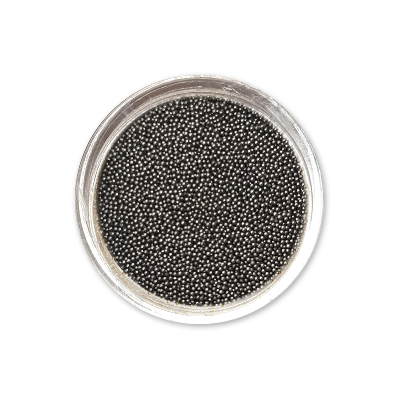 キャビアビーズ Caviar Beads 0,8 mm - No. 04 Graphite