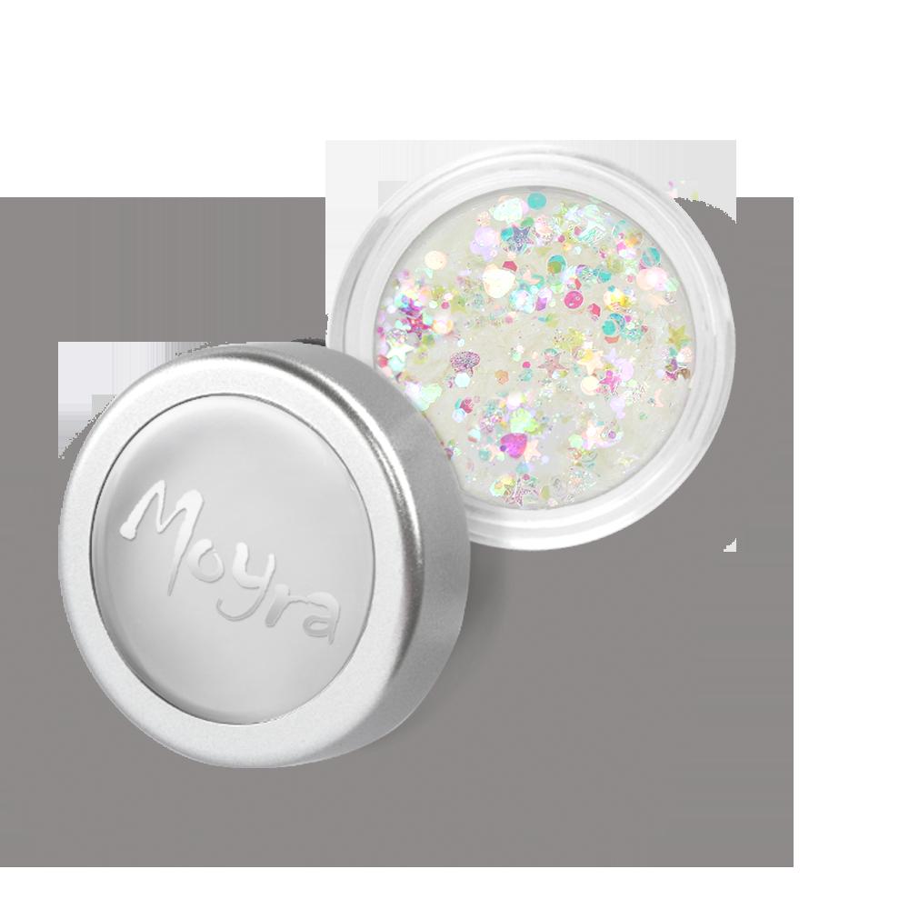 Moyra Mini レインボー スパンコール ミックス Rainbow flitter mix