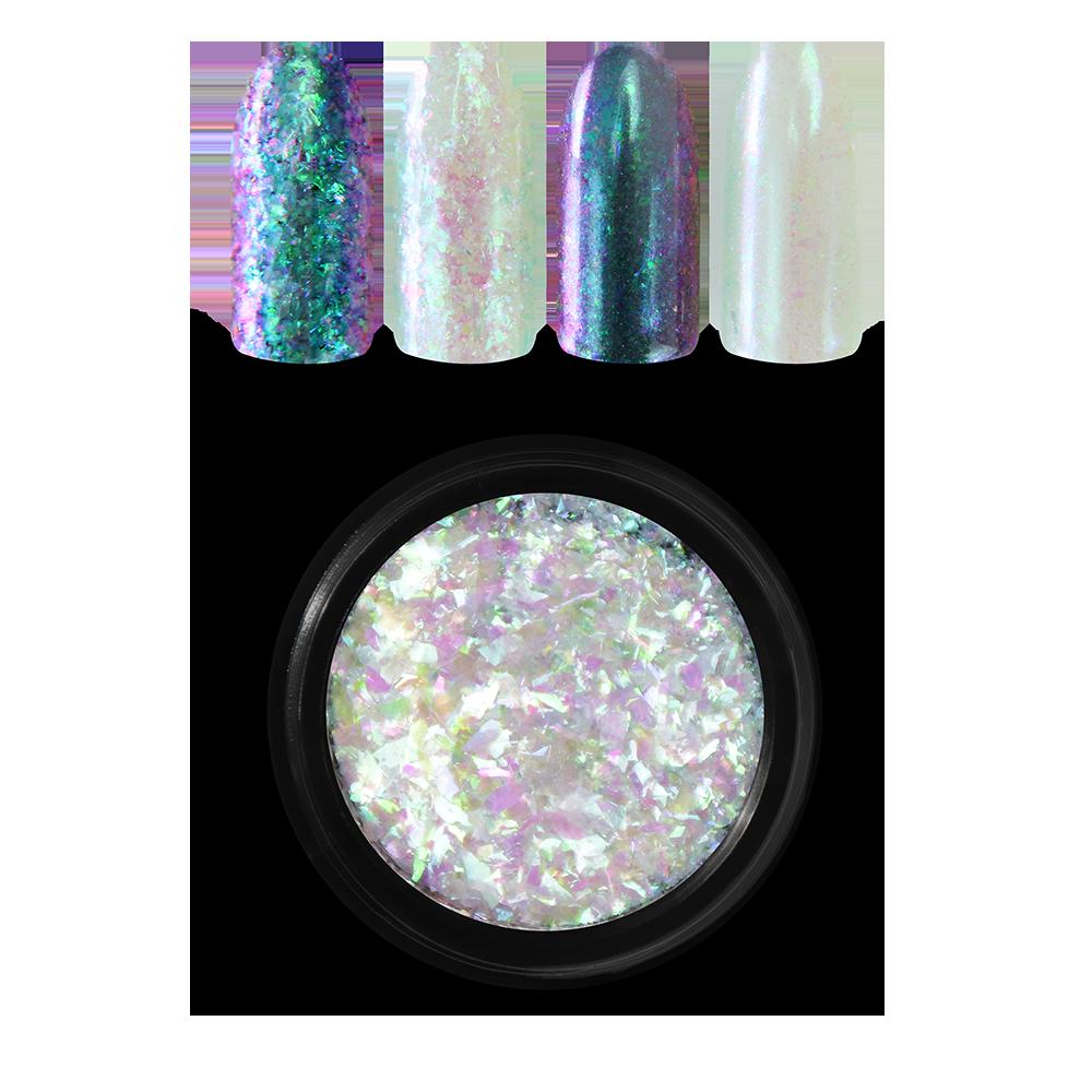 Moyra レインボーフレーク Rainbow flakes, Green