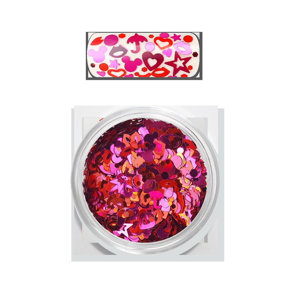 Moyra レインボー ラブ スパンコール ミックス Rainbow Love flitter mix No. 02