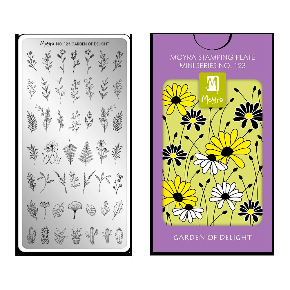 Moyra スタンピングプレート ミニ Mini Stamping Plate 123 Garden of delight