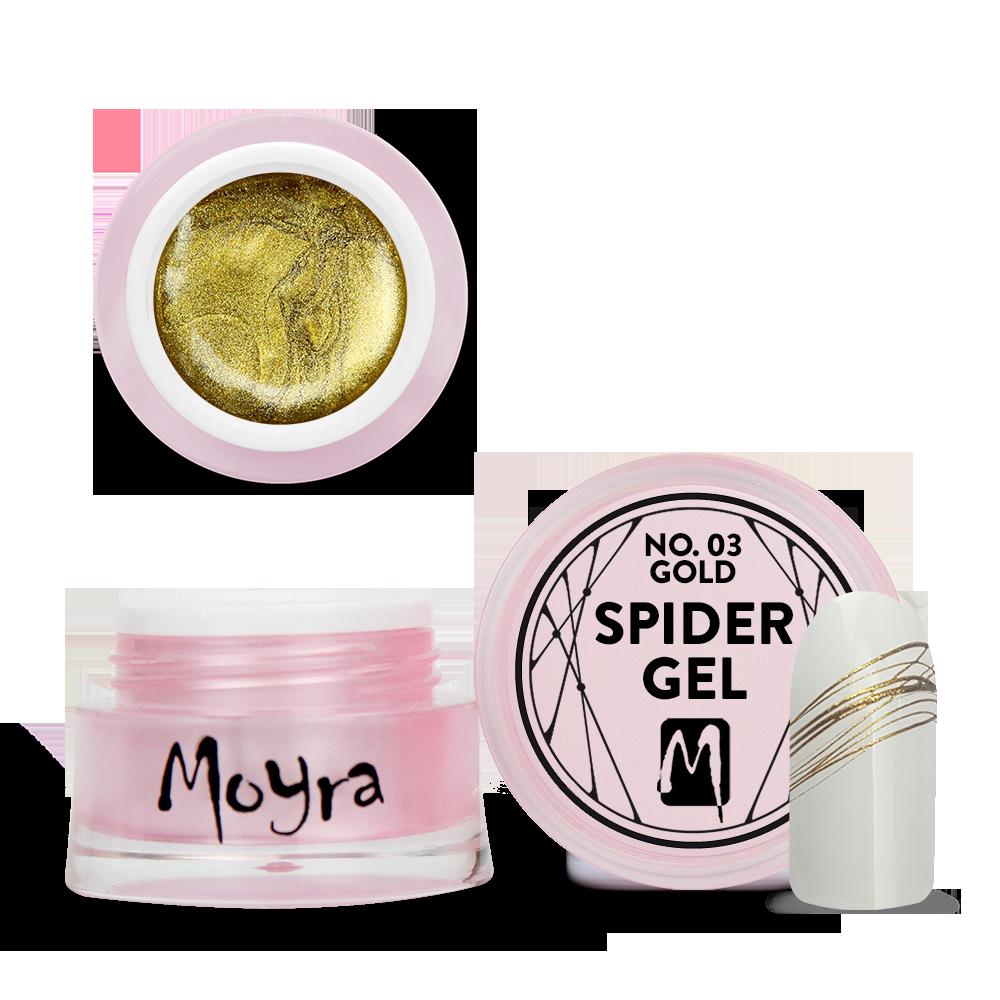 Moyra Spider gel スパイダージェル No. 03 Gold