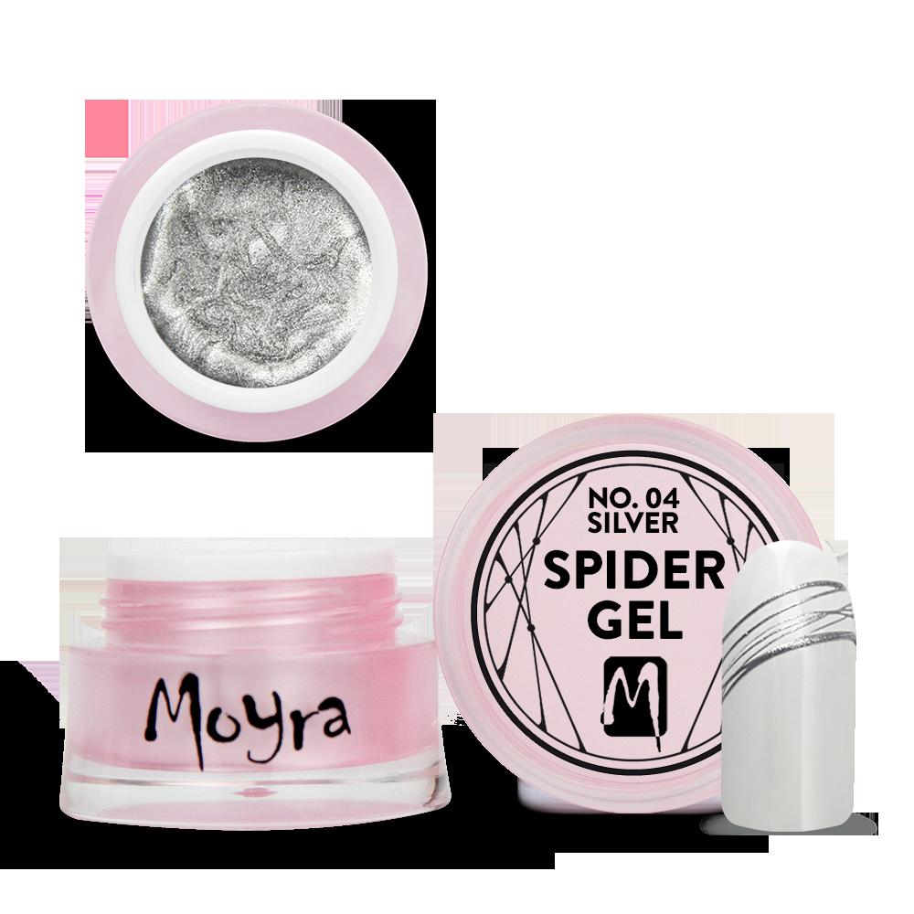 Moyra Spider gel スパイダージェル No. 04 Silver