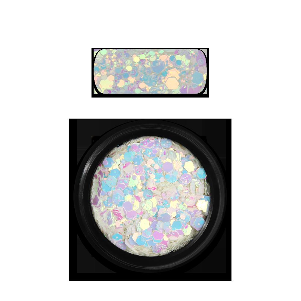 ホログラフィックグリッターミックス Holo Glitter Mix No. 12 Chameleon White