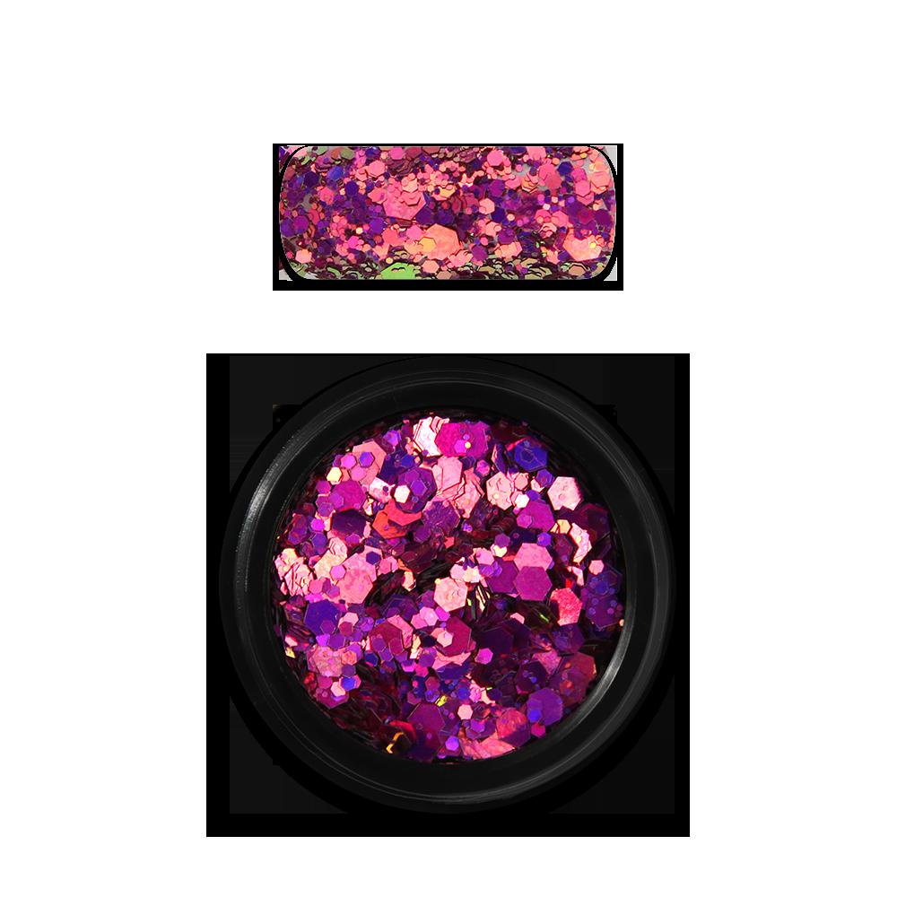 ホログラフィックグリッターミックス Holo Glitter Mix No. 13 Chameleon Pink