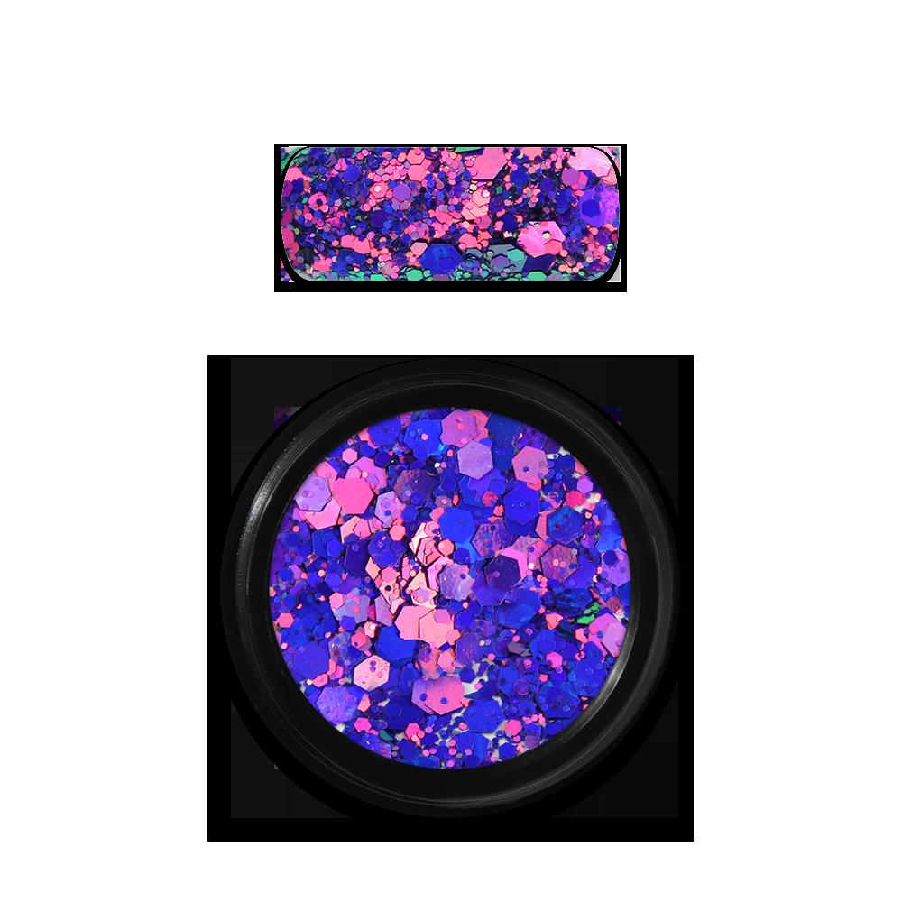 ホログラフィックグリッターミックス Holo Glitter Mix No. 15 Chameleon Purple